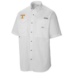 Columbia Men's Collegiate PFG Tamiami™ Short Sleeve Shirt UT_WHITE